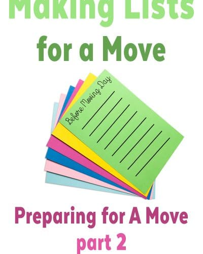 Making Lists for Your Move: Getting Ready for a Move - Moving Day