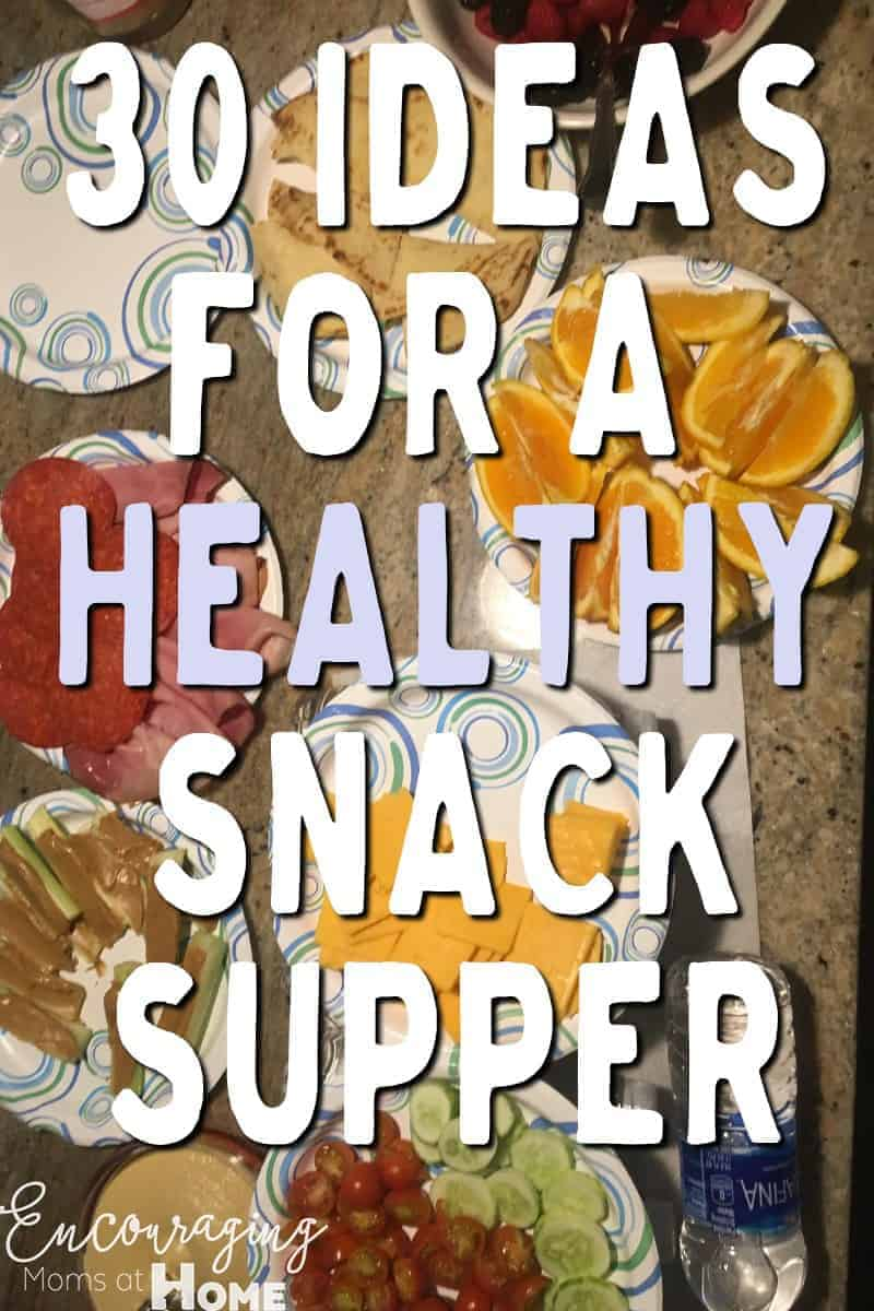 Need to get a meal on the table quickly?  Have you tried a snack supper?  It's a great way to get a meal to the table fast AND an easy way to include veggies, fruit, protein and the occasional carb.