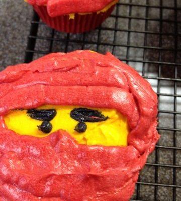 Lego Ninjago Cupcakes for my Lego Fanatic