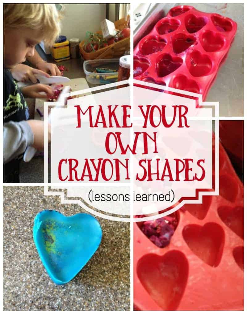 Make your own crayons - make shaped crayons for theme days. Make crayons in molds.