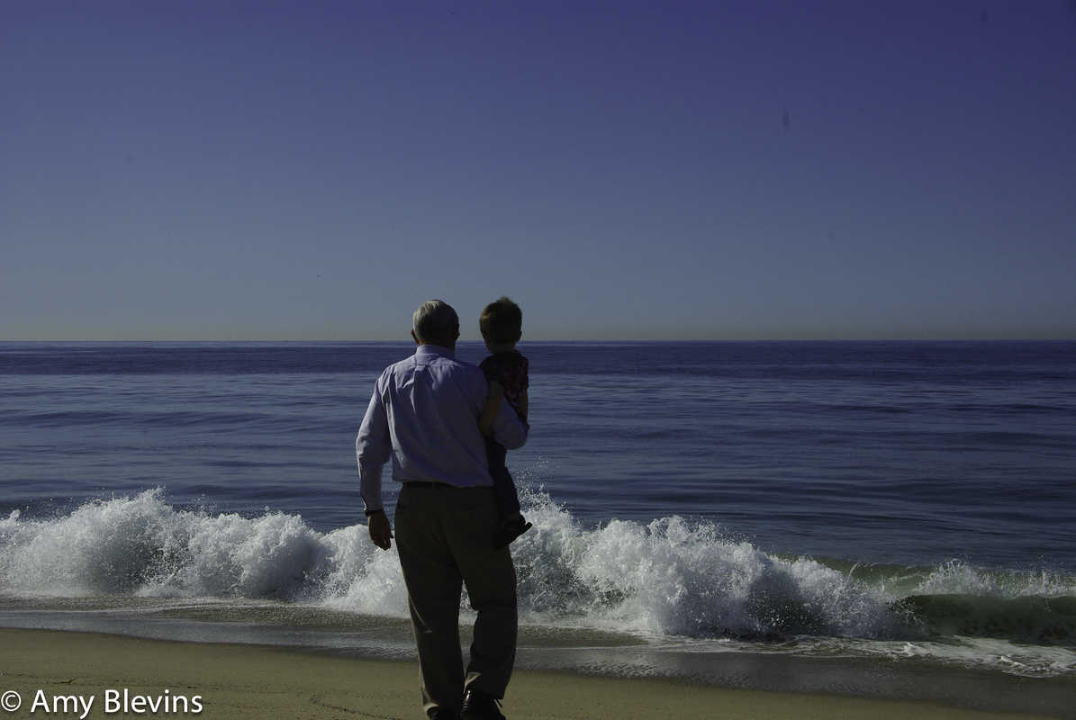 My Dad - seeing the Pacific Ocean for the first time on his birthday in 2011.