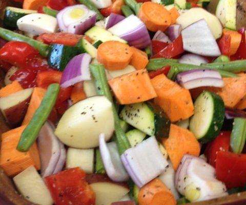 Baked Fresh Veggie Mix