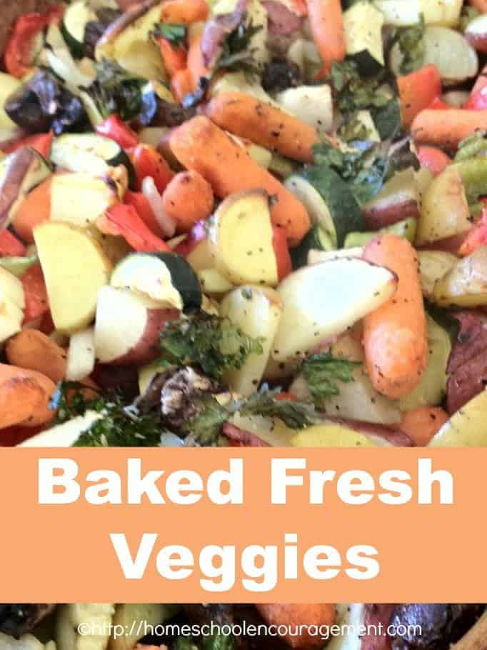 Baked Fresh Veggies for Fall - use what you have!