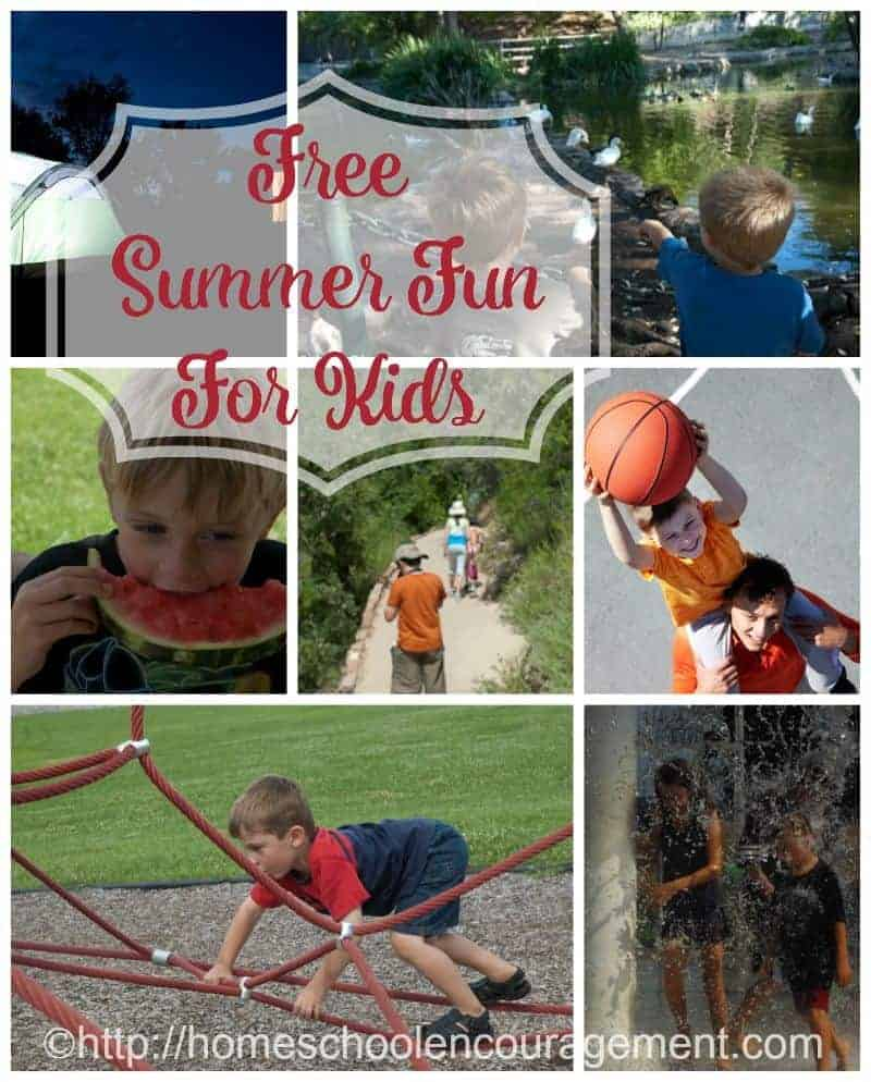 Looking for summer activities for your kids that are fun? Here's a list of 10 great FREE ideas for summer fun.