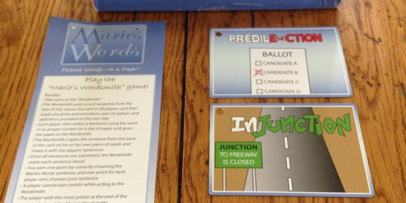 Product Review:  Marie's Words – a game from Timberdoodle
