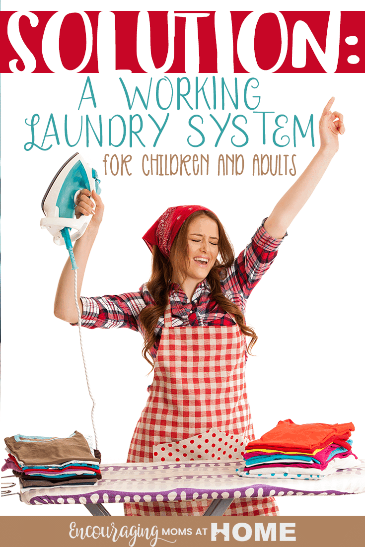 If you have a large family and lots of laundry, it helps to have a working laundry system. Take a look at how our large family created a system that works.