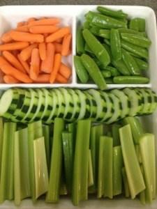 Using Produce:  Fresh Crisp Veggies for Dipping