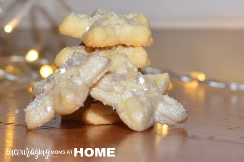Cheesecake Spritz Cookies for Cookie Press Christmas Cookies