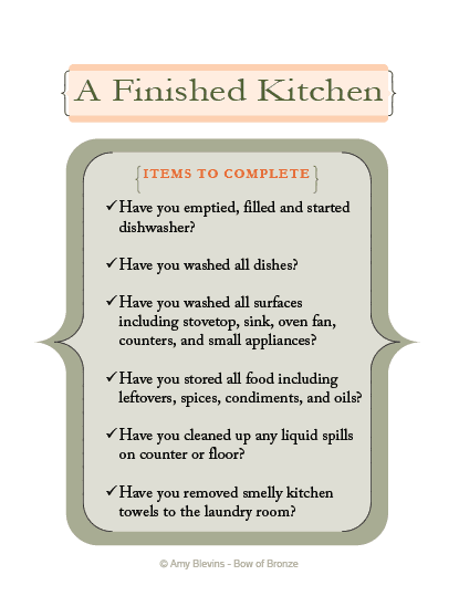 A Finished Kitchen is... Clean - Right? (A Free Printable Kitchen ...