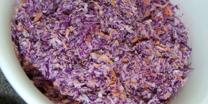 Pretty Purple Sweet Southern Coleslaw (Using Produce)