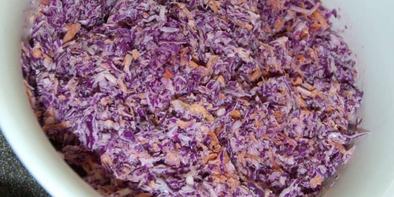 Pretty Purple Sweet Southern Coleslaw (Using Produce)