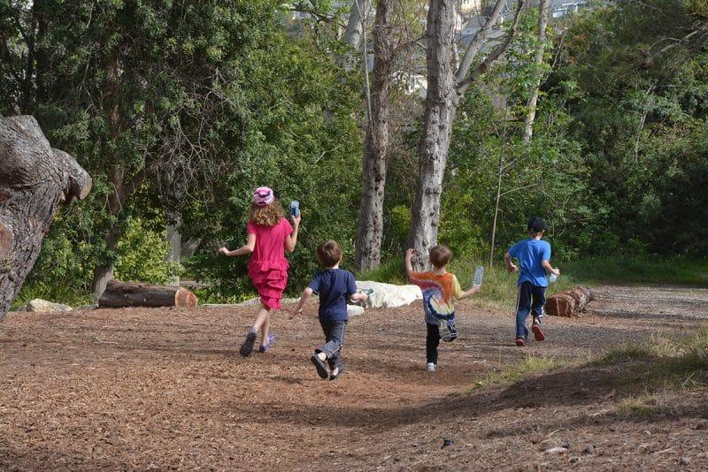 Kids Enjoying the Trail
