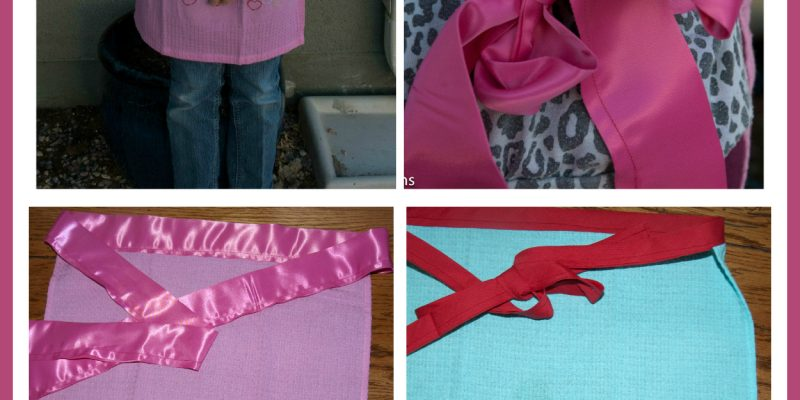 Sewing With Children:  How to Make an Apron from a Tea Towel