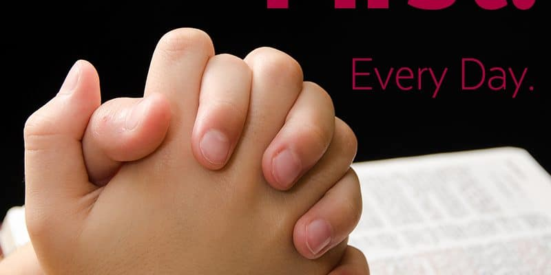 Bible First - Every Day in your Homeschool - setting the right precedent.