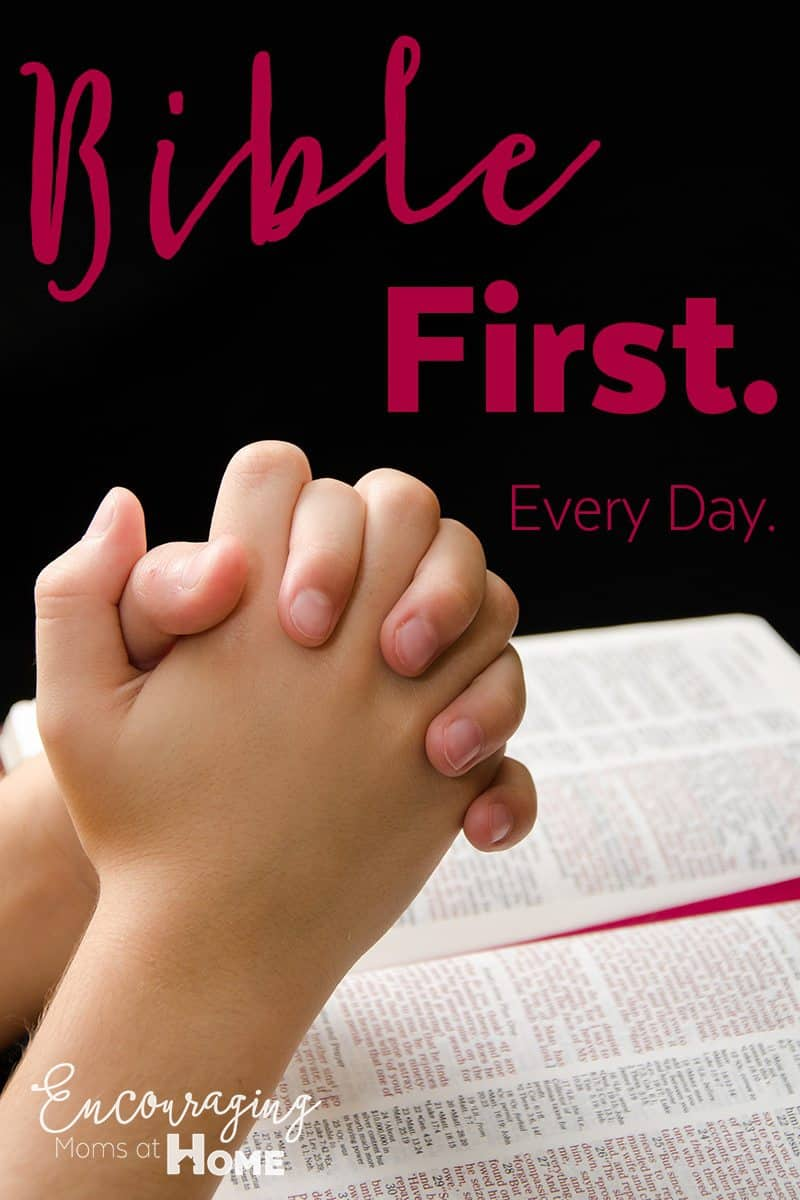 Do you put the Bible first in your homeschool day?  When you do, your days go more smoothly and our schoolwork is done so much more professionally. Give it a try and see how it adds to your day.