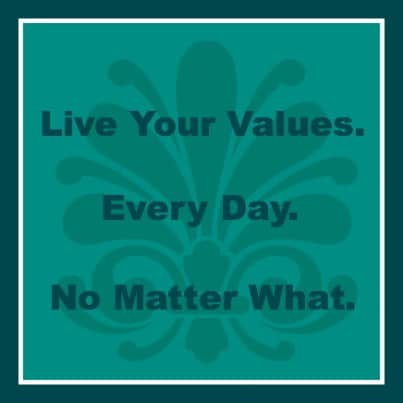 living your values As i sit here writing this, i am still in the middle of a huge shift in my life, a shift that has seen me move from living by other people's values and expectations to identifying and living.
