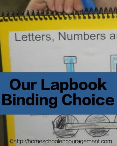 Our Lapbook Binding of Choice since I can't stand file folders.