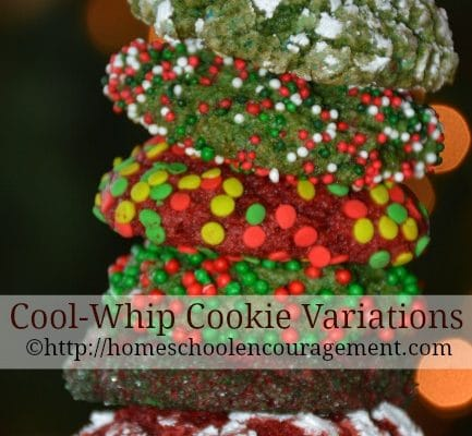 Cool Whip Cookie Variations – a round up with printable