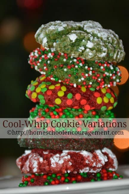 Cool Whip Cookie Ingredients and variations. Recipe with free printable.