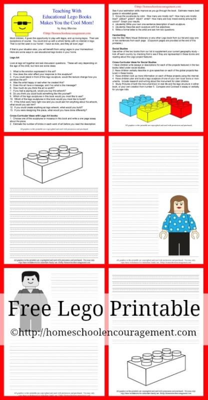 Educational Lego Books