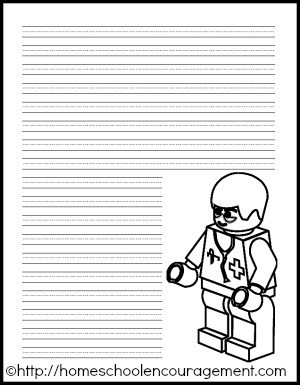lego writing paper printable doctor pages