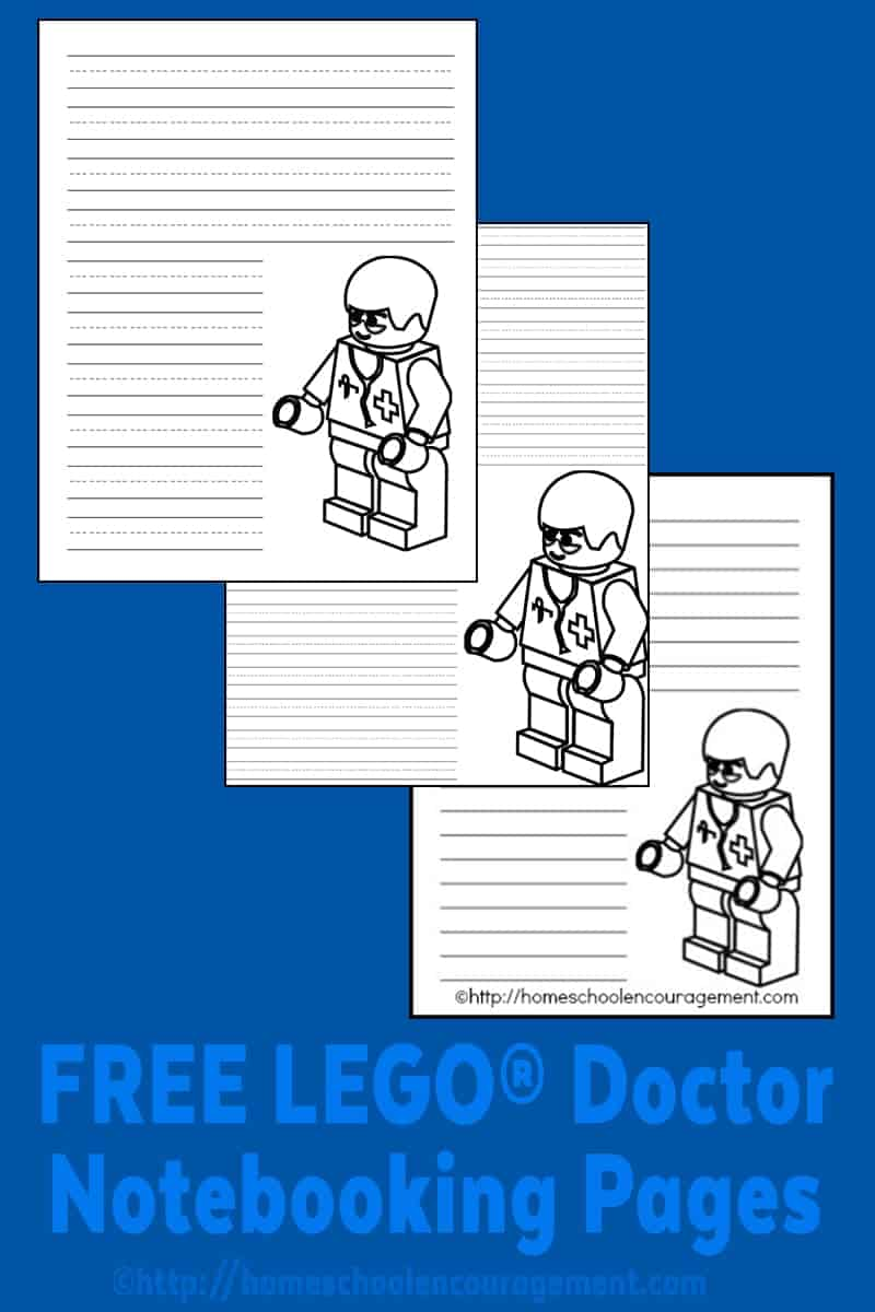 LEGO Doctor Writing Paper: Free LEGO Printables
