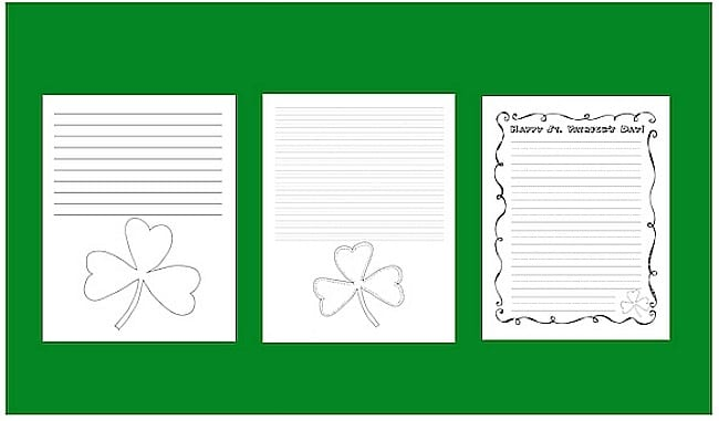 Free St. Patrick's Day Notebooking Pages