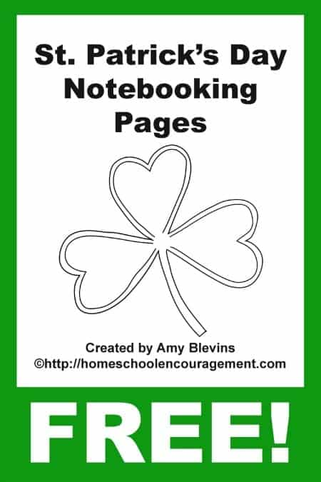 Are you looking for a way to teach your kids about St Patrick's Day?  Take a look at our FREE printable notebooking pages that include crafts, history, and more.