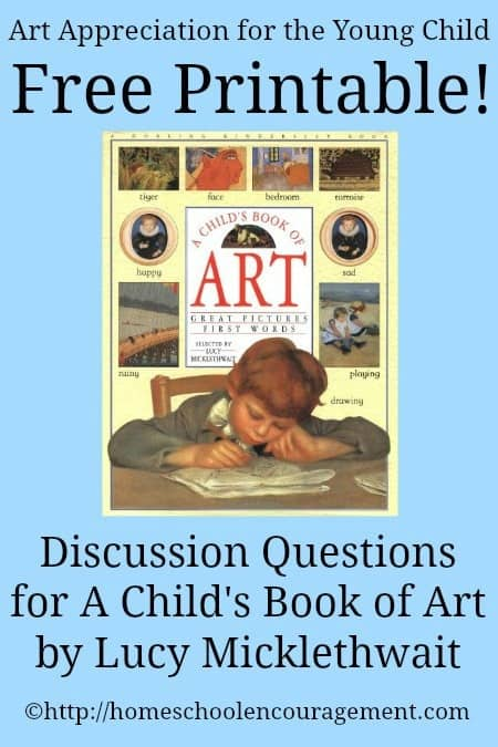A Child's Book of Art Discussion Questions Free Printable