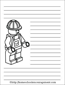 Free LEGO Construction Worker Printable Notebooking Pages from #Homeschool Encouragement