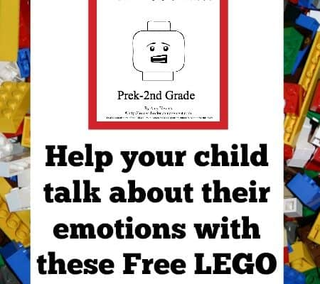 Exploring Emotions with LEGO faces – free LEGO printables