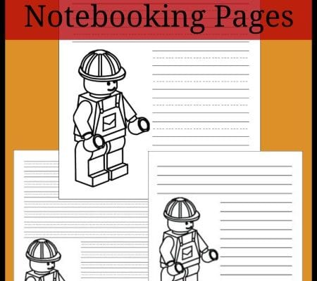 Construction Worker Notebooking Pages: Free LEGO Printables
