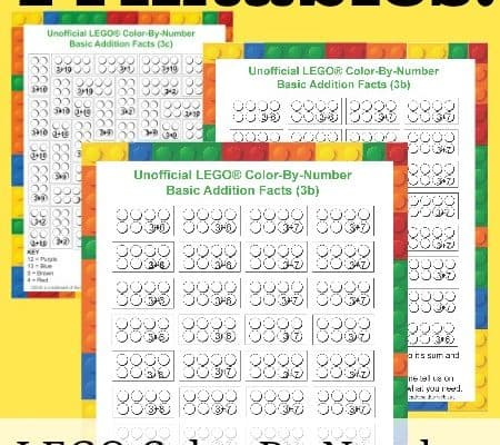 Free LEGO PRintables weekly - LEGO Color-By-Number for 3's Facts