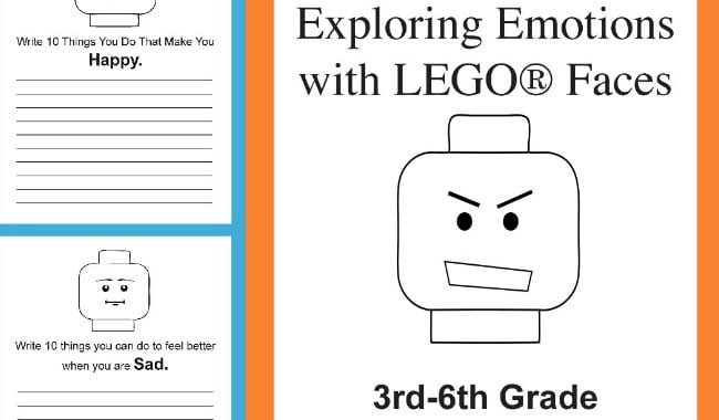 photo regarding Lego Faces Printable named Investigating Feelings With LEGO Faces - 3rd -6th Quality Mounted