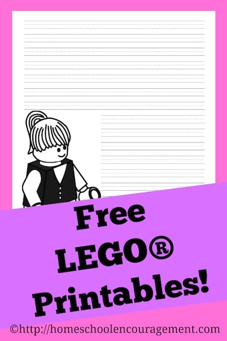 Free LEGO girl printable notebooking pages Homeschool