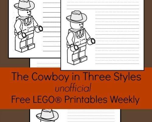 The Cowboy: Free LEGO® Printable Writing Paper