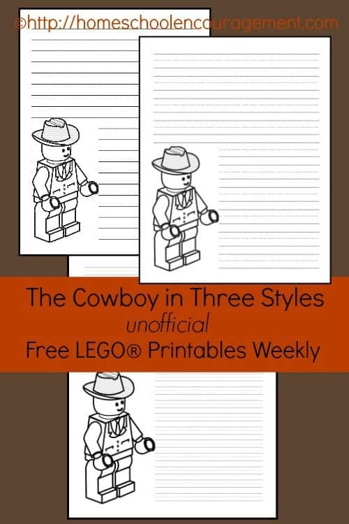 The Cowboy: Free LEGO Printables Weekly to encourage your budding brick builder.