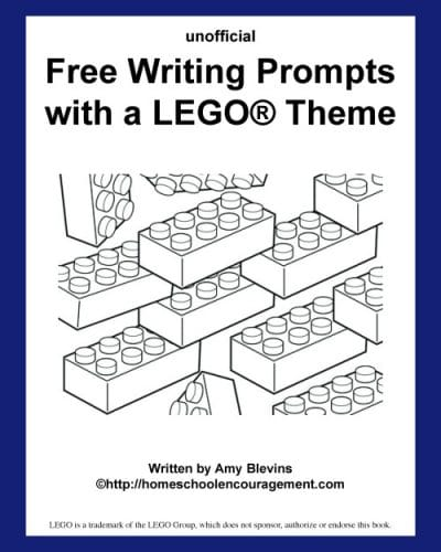 Writing Prompts with A LEGO® Theme for your budding writer and brick enthusiast. #homeschool