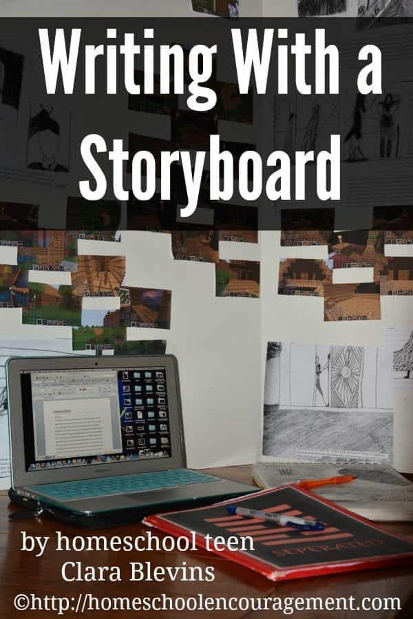 A storyboard is a way to plan your story helping you to visualize the things that are in your imagination, taking them to the next level.  Click over to see how homeschool student Clara Blevins uses a storyboard to create her stories.