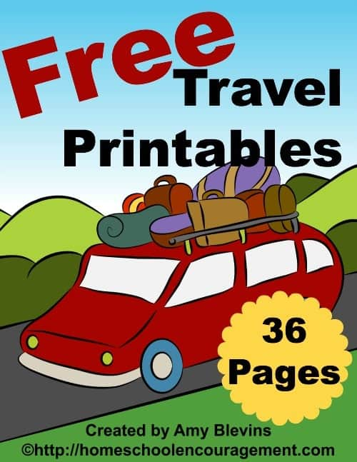 Free Travel Printables for Kids