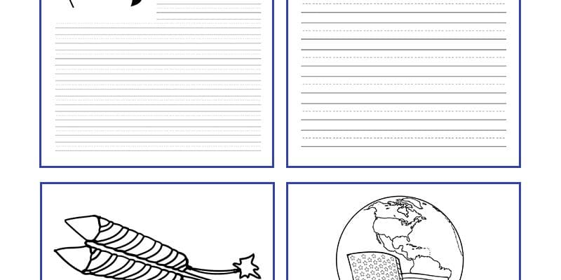 Fourth of July Ideas: Free Printables – Writing Paper and More!