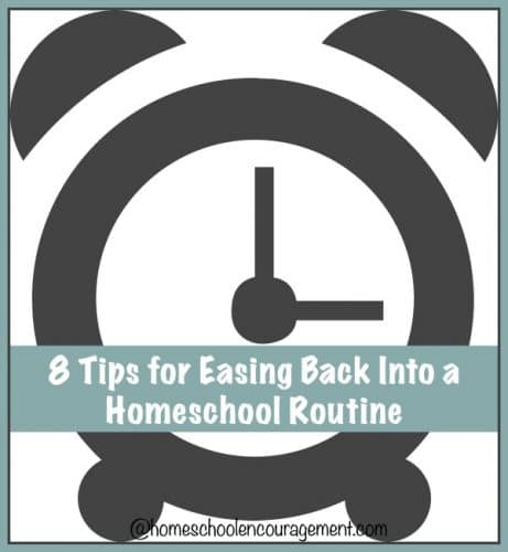 Whether it is the start of a new year or a new semester, routine is important for the homeschool classroom. Take a look at 8 things we do to ease back into our homeschool year. #homeschool