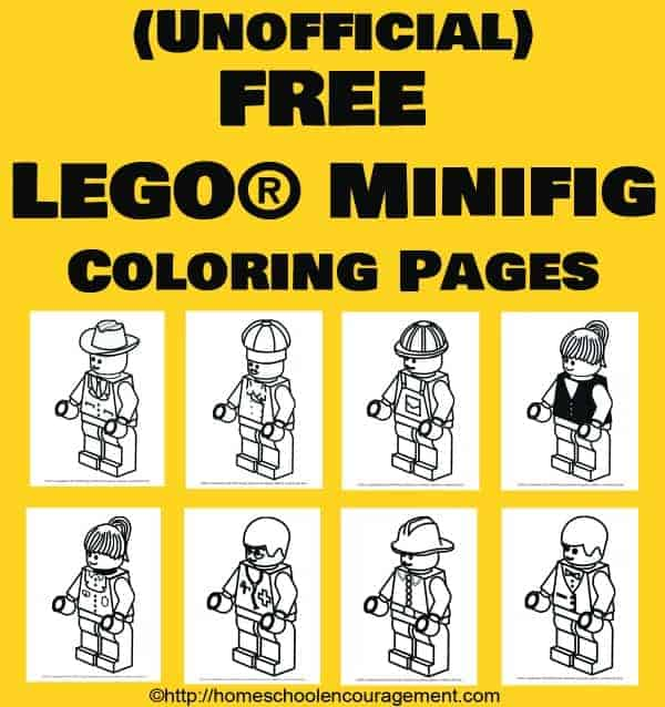 """LEGO coloring pages are always fun for kids. Try out these 8 FREE printables in your homeschool or just for fun."