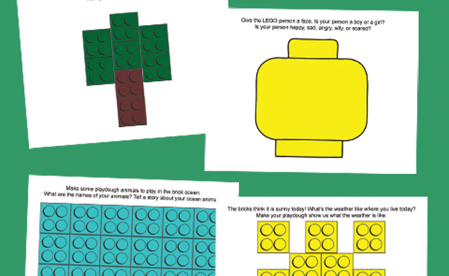 LEGO® Language Playdough Mats