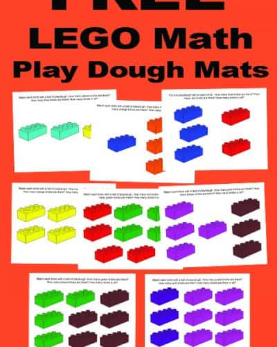 LEGO Playdough Math Mats.