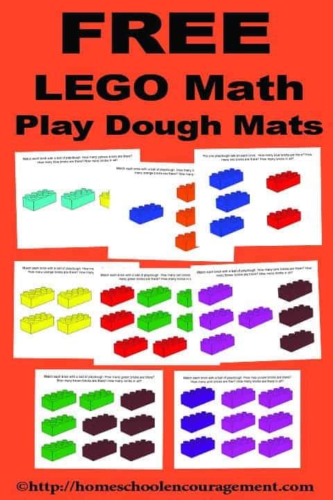 These fun LEGO® Math Playdough Mats combine LEGOs with playdough to learn beginning addition for your preschooler.