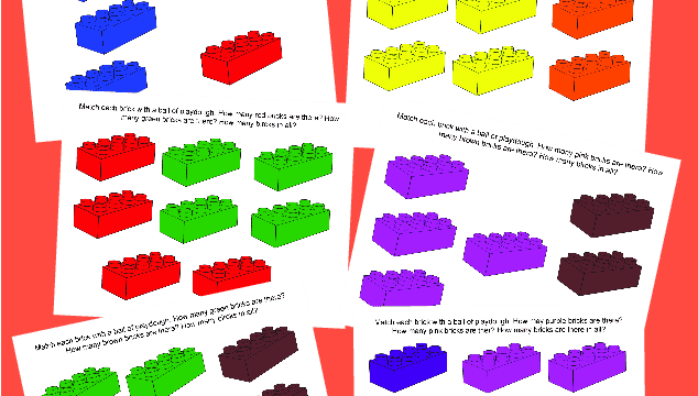 LEGO Math Playdough Mats