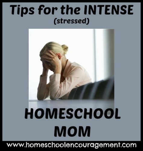 tips for stressed homeschool mom