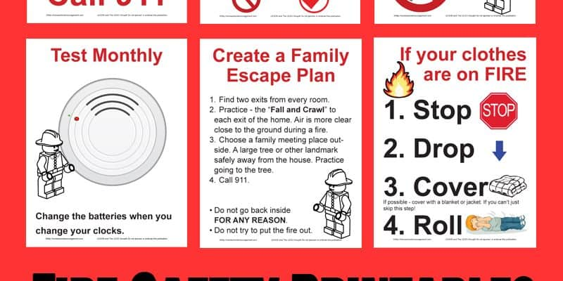 Free Fire Safety Posters with a LEGO® Theme