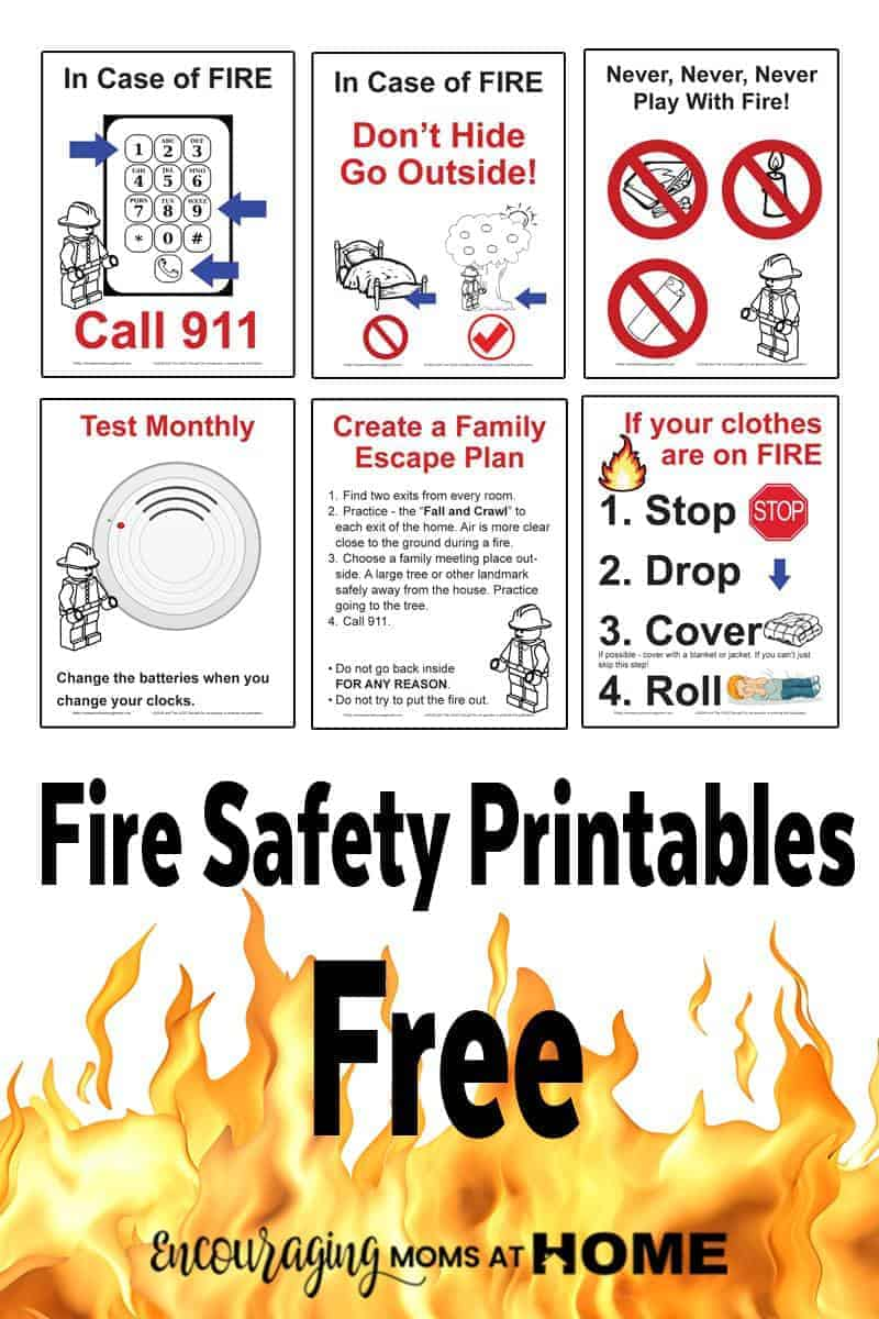 Fire safety rules for kids the image for Fire safety house